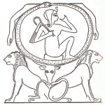 Dessin du papyrus Dama Heroub